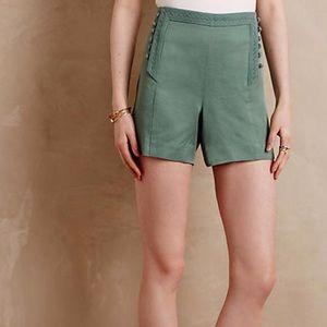 Anthropologie elevenses sage shorts